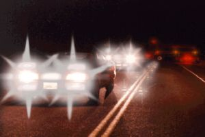 Gegenverkehr, Doppelbilder, Ghosting